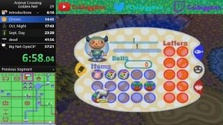 Animal Crossing Golden Net Speedrun in 51:17 [PB]