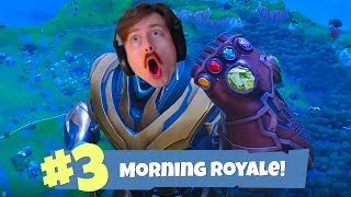 Finally Getting the Infinity Gauntlet in Fortnite Battle Royale - Morning Royale #3