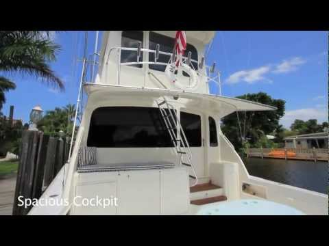 1999 60' Ocean Yachts Super Sport Enclosed Bridge