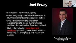 How Joel Erway Writes Million Dollar Webinars For Course Creators