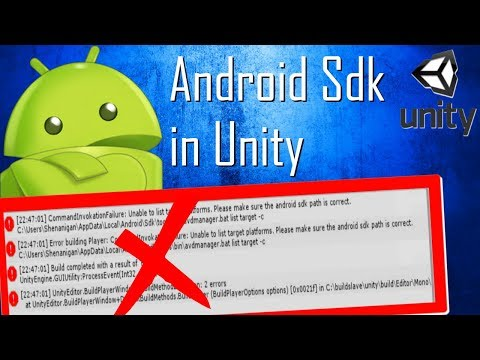 How to setup Android Sdk in Unity (unable to list target platforms fixed 2018)