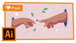 Рисуем романтическую иллюстрацию в Adobe Illustrator | уроки для новичков