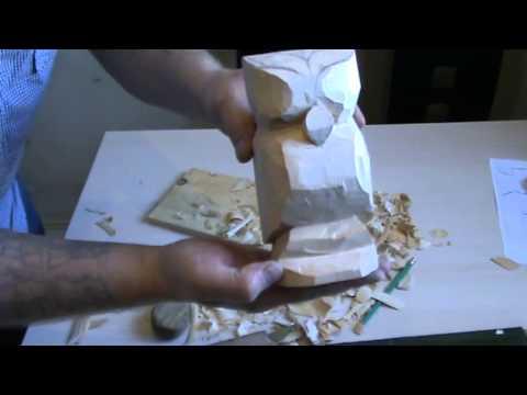 Как сделать статуэтку из дерева