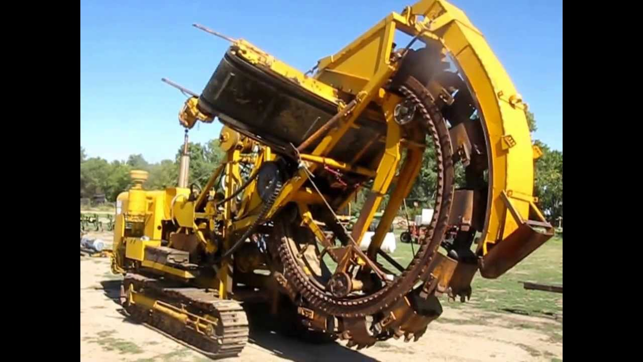 Trencher For Sale >> Buckeye 300G wheel trencher for sale | sold at auction October 31, 2013 - YouTube