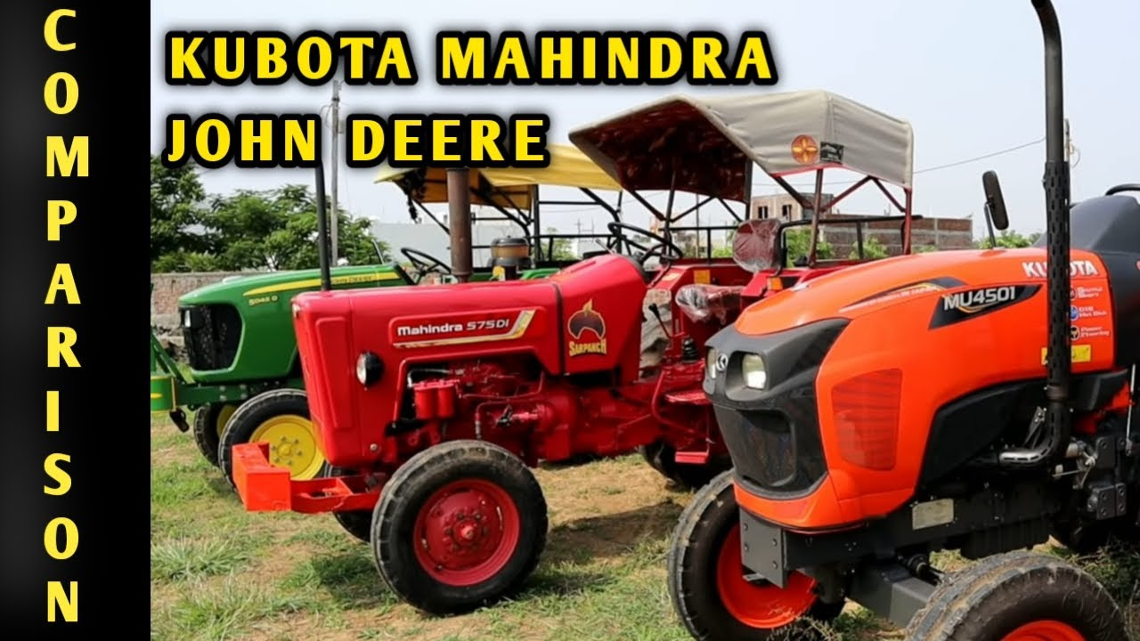 Kubota MU4501 VS John Deere 5045 D VS Mahindra 575 DI Tractor comparison in Hindi | 45 HP Tractors