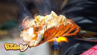 Roasted Lobster with Cheese / Korean Street Food / Myeong-Dong, Seoul Korea