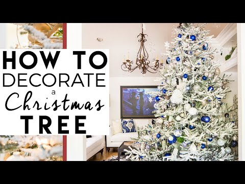 How to Decorate A Christmas Tree | Christmas Tree Decorating | 8