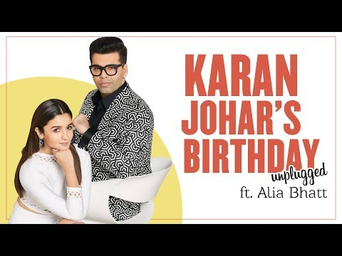 Karan Johar's Birthday Unplugged Ft. Alia Bhatt | LIVE