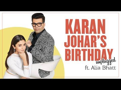 Karan Johar's Birthday Unplugged Ft. Alia Bhatt  LIVE
