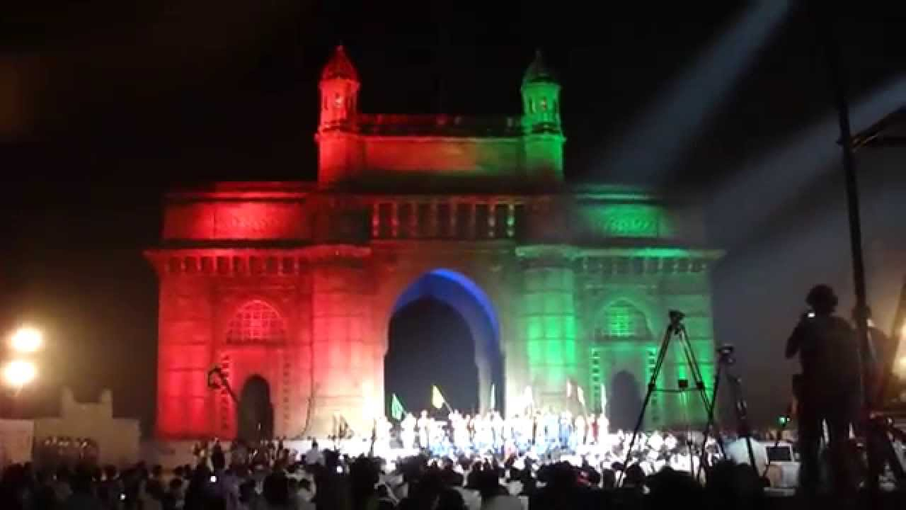 Amazing light show at Gateway of India 24th Jan 2014 - Mumbai India - Part 7 - YouTube & Amazing light show at Gateway of India 24th Jan 2014 - Mumbai ... azcodes.com
