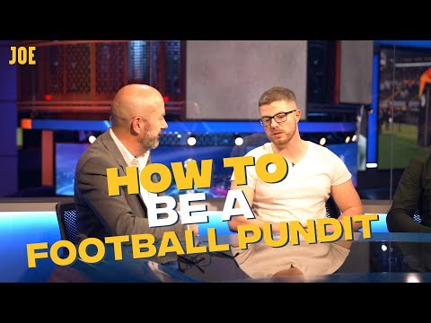Learning how to be a Champions League football pundit
