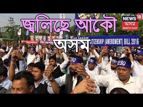দুপৰৰ শিৰোনাম   অব্য়াহত প্ৰতিবাদ   জ্বলিছে Assam Citizenship Amendment Billৰ বিৰুদ্ধে