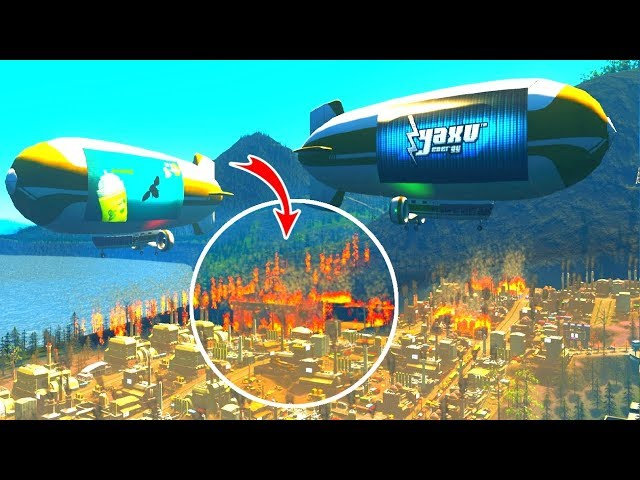 I Filled the Sky with Blimps to Fix Traffic in Cities: Skylines!