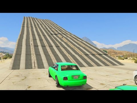 RAMPA GIGANTE Y MUCHOS COCHES! - Gameplay GTA 5 Online Funny Moments (Carrera GTA V PS4)