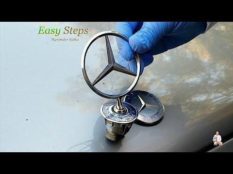 How To Change Mercedes Hood Ornament Emblem | Mercedes Benz Genuine Flat Hood Emblem