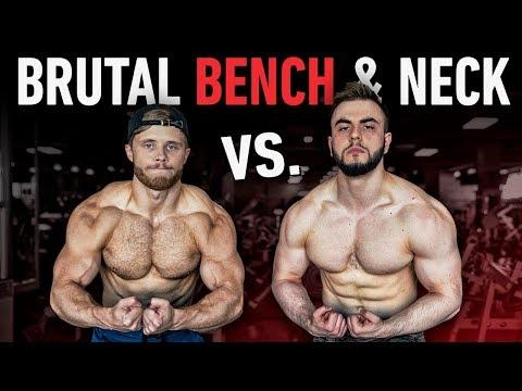 Who Has The Bigger Bench? | Brutal Neck & Trap Training Ft. Alpha Destiny