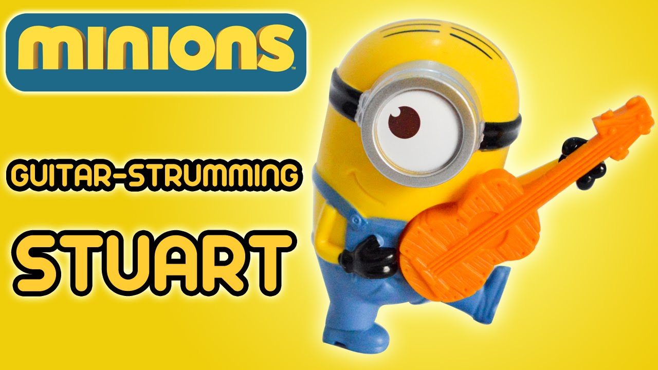 guitar strumming stuart minions movie mcdonald s happy meal guitar strumming stuart minions movie 2015 mcdonald s happy meal toy review by ilovethistoy