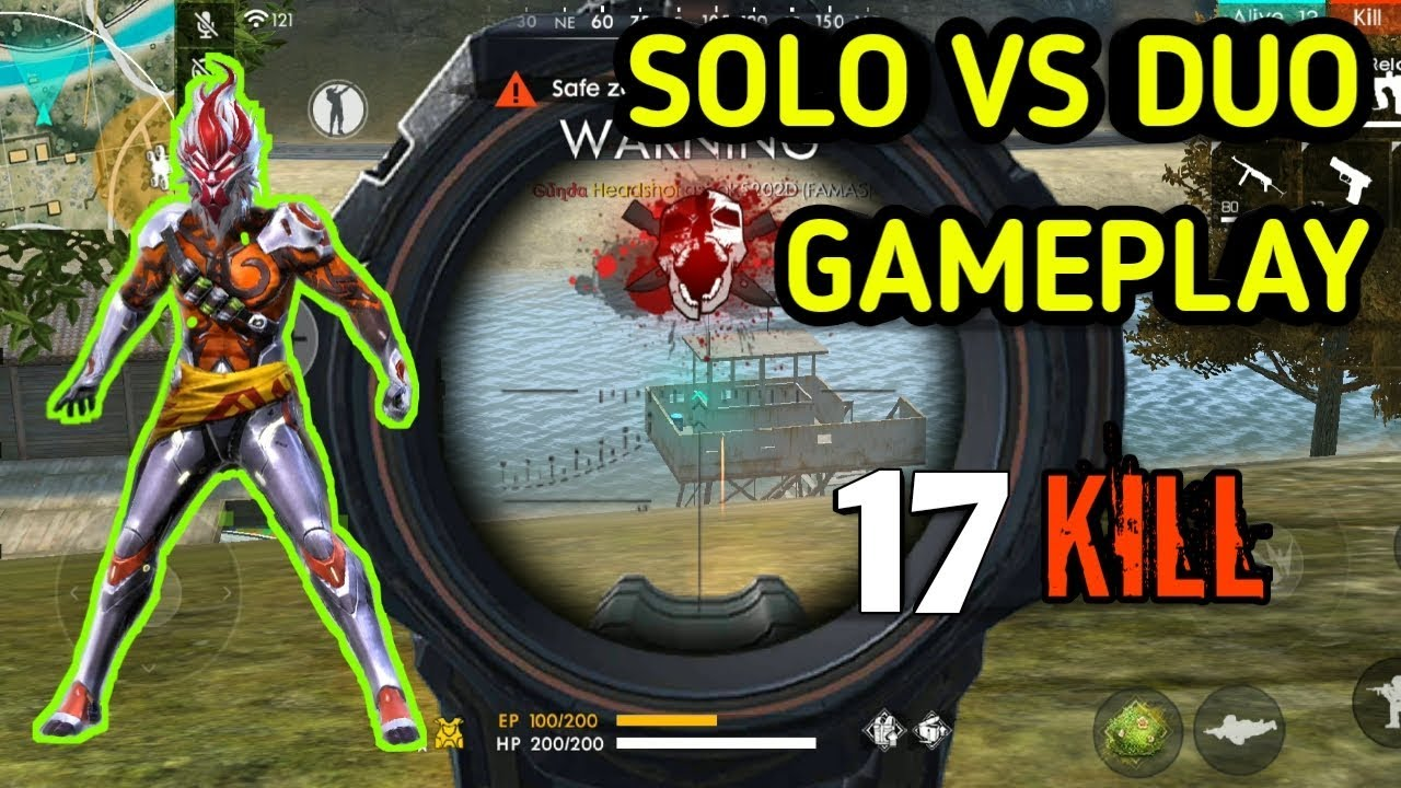 Rank 17 Kills Solo Vs Duo Gameplay Garena Free Fire Battlegrounds 2019 Youtube