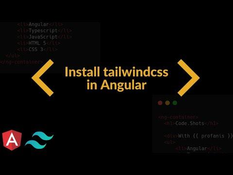 Setup TailwindCSS in Angular