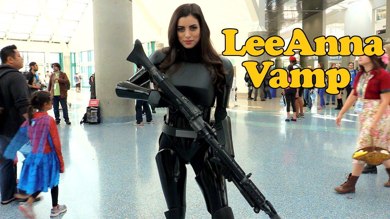 leeanna vamp  shadow trooper  interview  wondercon 2016
