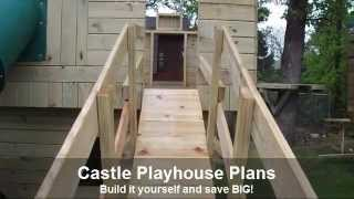 Castle Playhouse Plans With Tube Slide