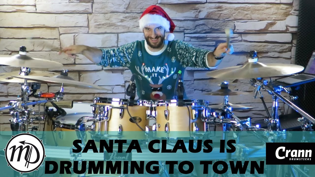 Santa Claus Is Drumming To Town - Bruce Springsteen - Drum Cover Drumeo (Rock)