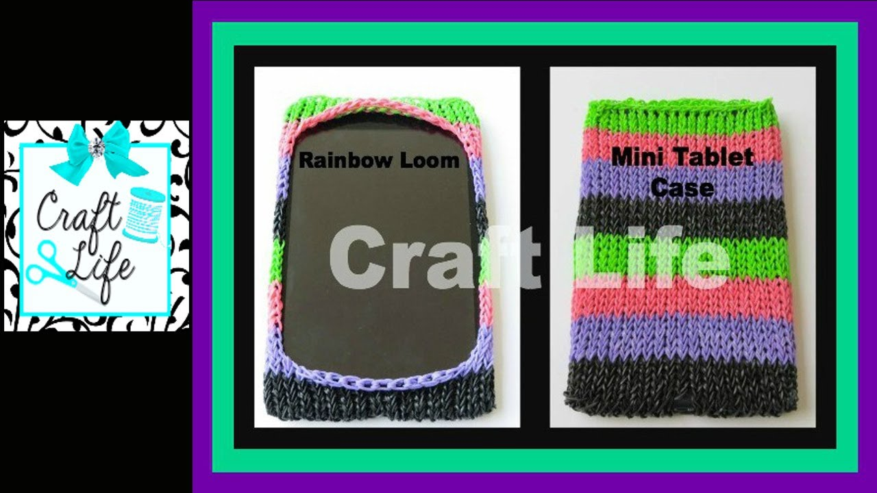 Craft Life Rainbow Loom Mini Tablet Case Tutorial ~ Fits ... Rainbow Loom Mini Purse Craft Life