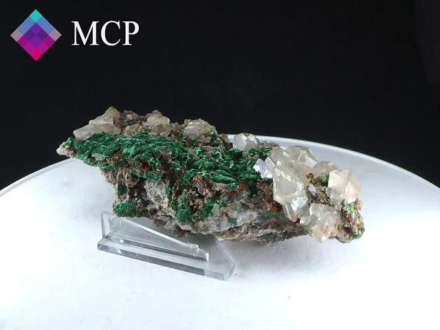 GFS0112 CERUSSITE, MALACHITE - NAMIBIA