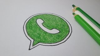 How to draw the logo WhatsApp