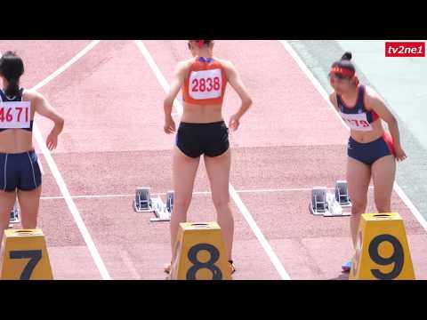 地方の陸上競技大会に見る凌ぎ合い 高校女子100mH 2019 tv2ne1