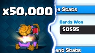 50,000 CARDS WON IN CHALLENGES | Clash Royale | Grand Challenge Hog Freeze Deck
