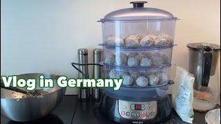 VLOG 독일일상 | 굴림만두 만들기 (필립스 전기 찜…