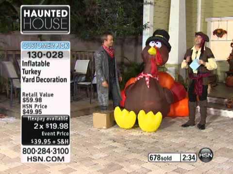Inflatable Turkey Yard Decoration   YouTube