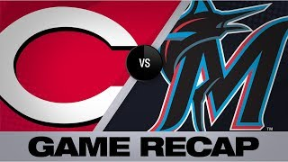 Bats, DeSclafani propel Reds to shutout win | Reds-Marlins Game Highlights 8/28/19