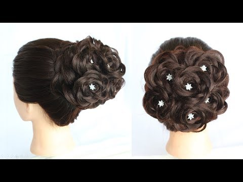 hairstyle for wedding || new hairstyle || bridal bun || bun hairstyle for party || juda hairstyle thumbnail