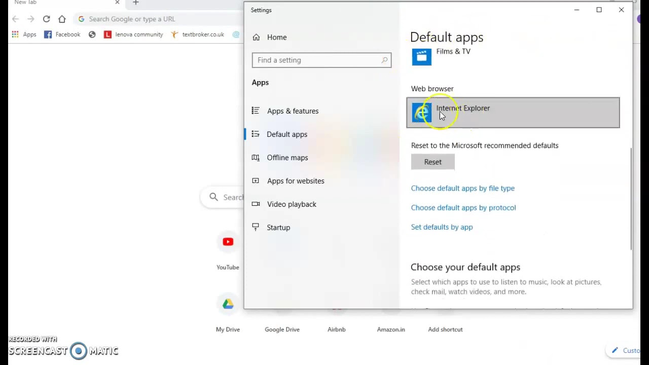 How to change default browser on Windows 10 in 15 seconds - YouTube