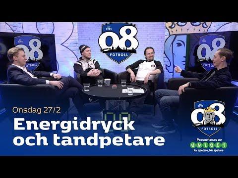 08 Fotboll: Energidryck och tandpetare