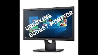 UNBOXING DELL E2016HV PC MONITOR BUDGET MONITOR BUDGET MONITOR FOR PC