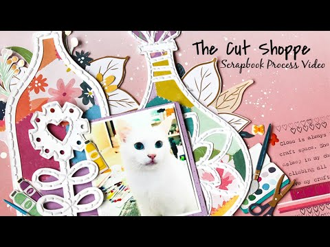 Scrapbook Process #106 (+ Cricut DS Tutorial) Artistic Cat   The Cut Shoppe DT