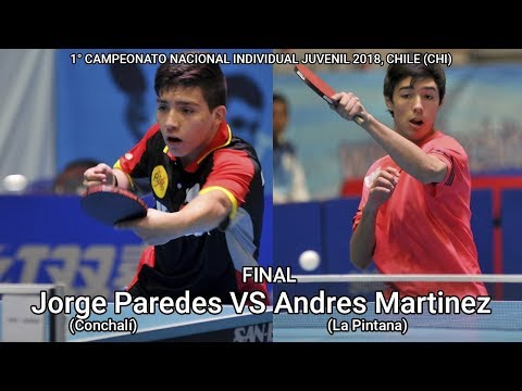 Final 1° Nacional Juvenil 2018: Andres Martinez vs Jorge Paredes