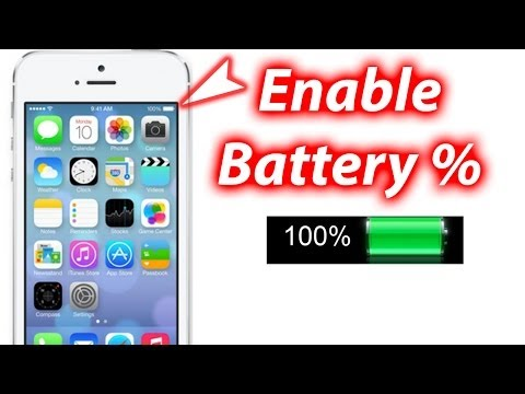 How To Show Battery Percentage iOS 7 - iPhone 5s/5c Tutorials