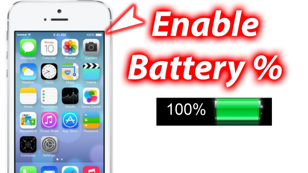 how to show battery percentage on iphone 5 how to show battery percentage ios 7 iphone 5s 5c 8209