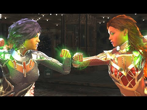 Injustice 2 - Blackfire Vs Teen Titan Starfire All  Intro Dialogue/All Clash Quotes, Super Move