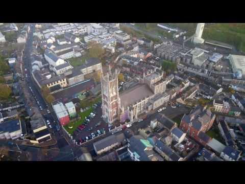 Saint Mary and Saint Anne's Cathedral, Shandon, Cork, Ireland. DJI Mavic Pro. 4K.