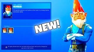 *NEW* Secret EVIL GNOME SKIN! (New Item Shop) Fortnite Battle Royale