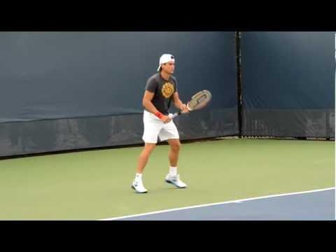 HD David Ferrer Practice at 2012 Cincinnati Masters Tennis