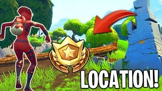 Search Between Stone Circle, Wooden Bridge, Red RV *SECRET* Location! In Fortnite