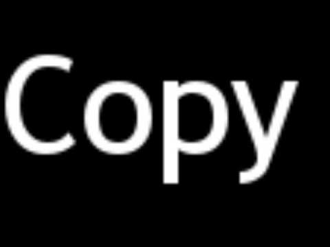 How to Pronounce Copy