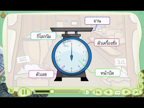 การชั่ง และการอ่านน้ำหนักจากเครื่องชั่ง - สื่อการเรียนการสอน คณิตศาสตร์ ป.3