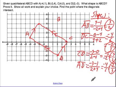 Determine a quadrilateral with coordinate geometry - YouTube